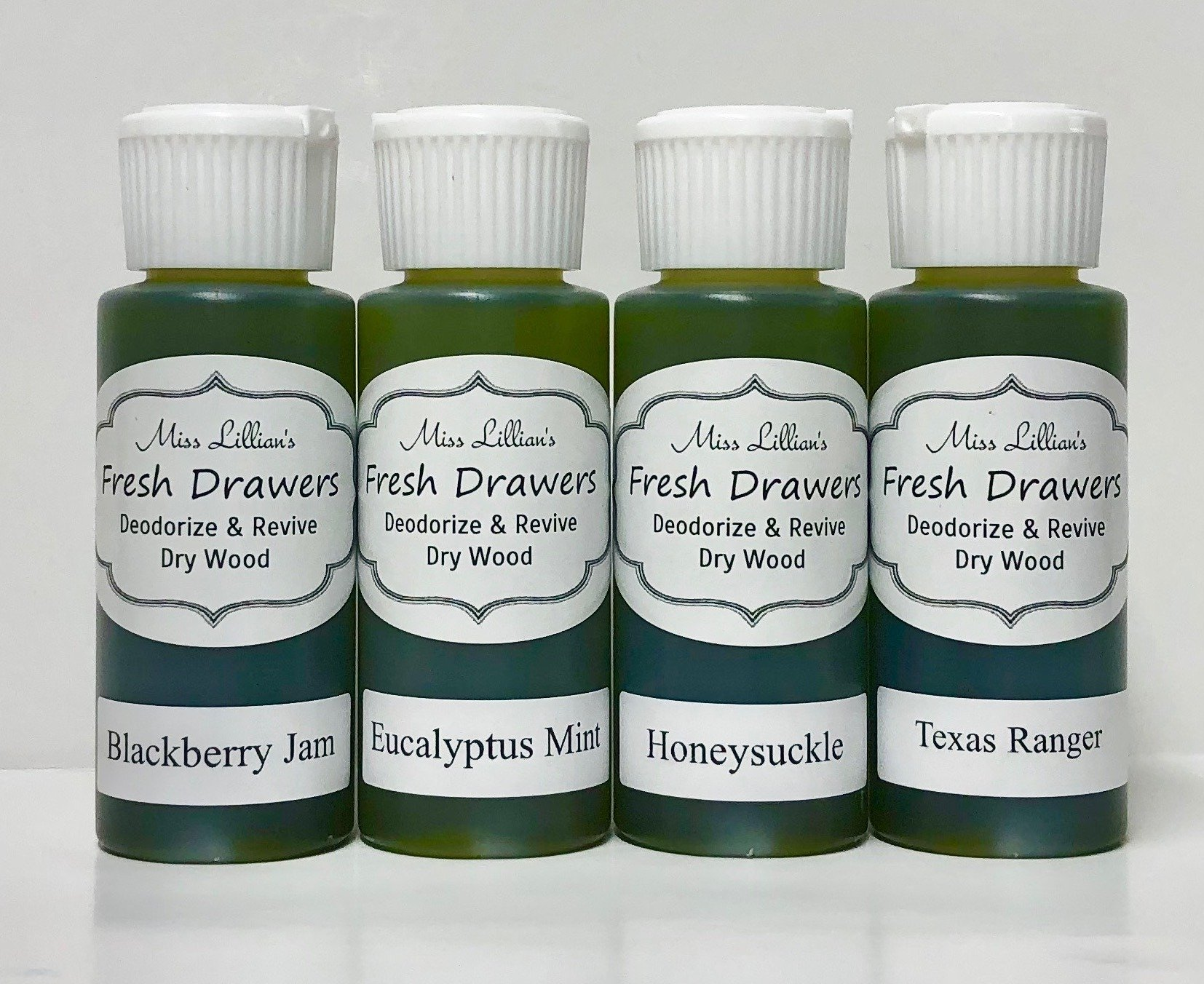 Fresh Drawers Sample Set - BlackberryJamEucMintHoneysuckleTexasRanger